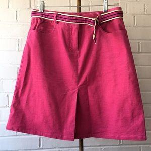 Vintage Lilly Pulitzer Corduroy Skirt w/ Belt Sz 4